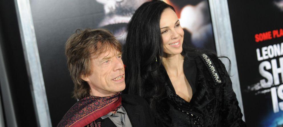 Foto: Mick Jagger y L'Wren Scott (I.C.)