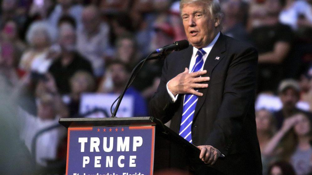 Foto: El candidato republicano a la Casa Blanca, Donald Trump, en un mitin en Florida. (EFE)