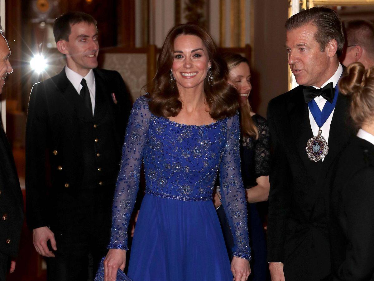 Foto: La duquesa de Cambridge, este martes en Buckingham. (Getty)