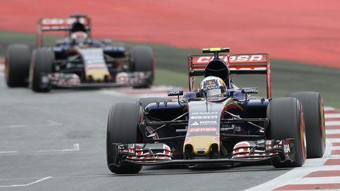 Carlos Sainz, con una chincheta puesta encima del circuito de Silverstone
