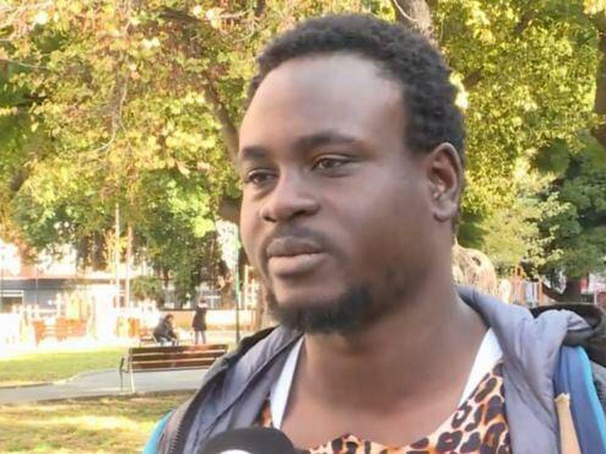 Foto: Gorgui Lamine, el senegalés que rescató a un vecino de Dénia de un incendio. (EP)