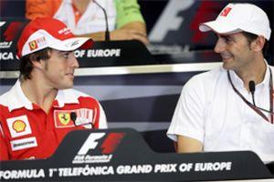 """De la Rosa ya está """"a entera disposición"""" de Alonso, Massa y el equipo"""