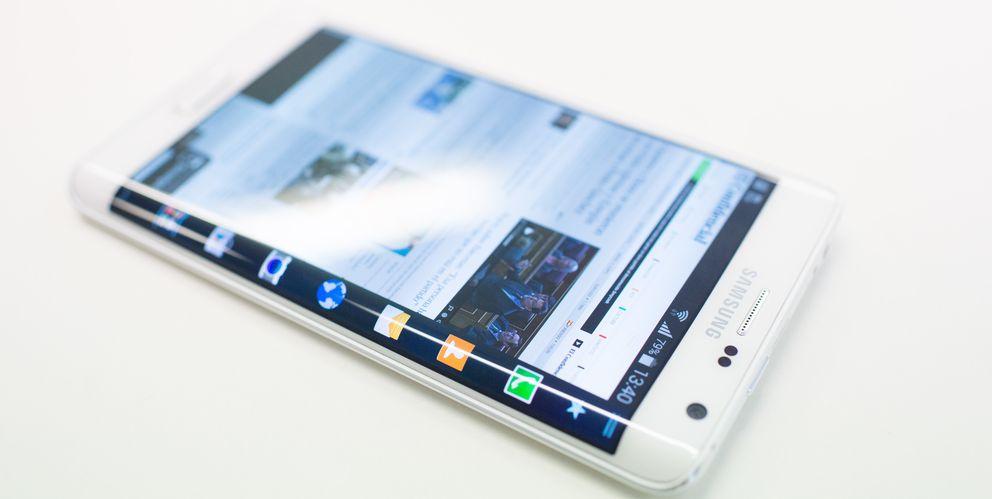 Foto: El Galaxy Note Edge, de Samsung (Fotografía: Pablo López Learte).