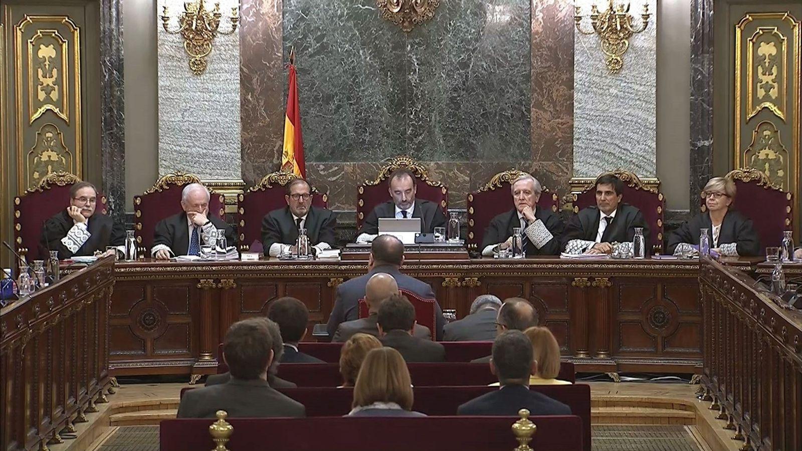 """Foto: Última sesión del juicio del """"procés"""" (EFE)"""