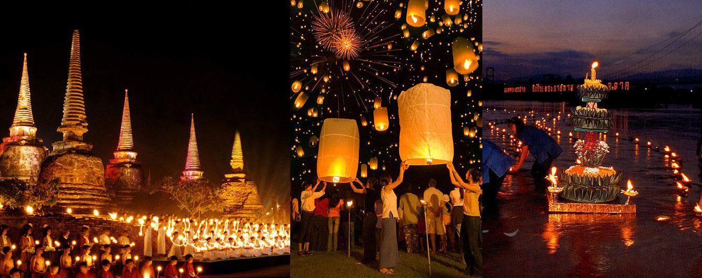 Foto: El próximo miércoles miles de velas voladoras y barqueras iluminarán Tailandia (Fotos: Turismo de Tailandia)