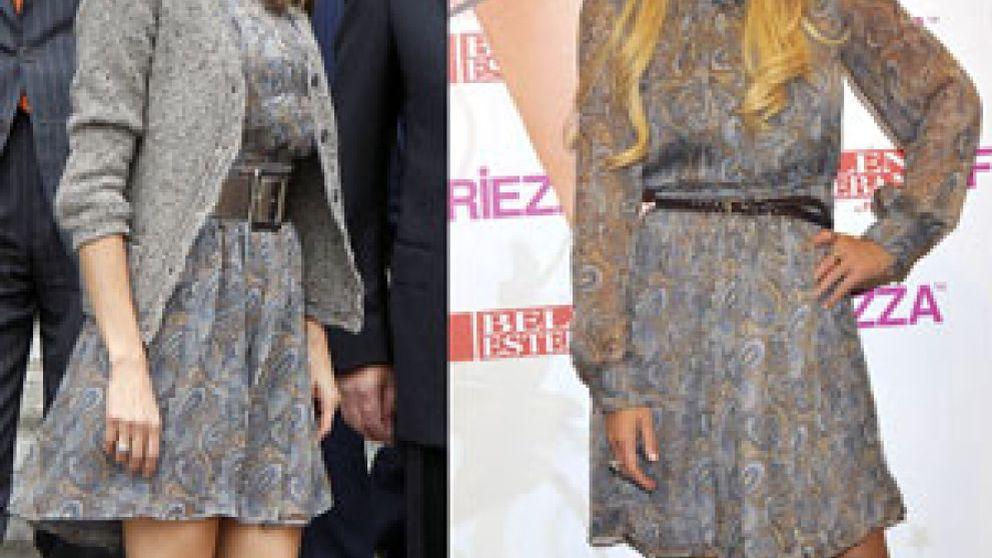 Belén Esteban le 'copia' el vestido a la princesa Letizia