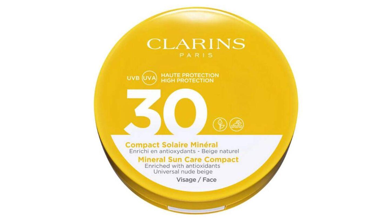 Mineral Solar Compact Rostro UVA/UVB 30 de Clarins.