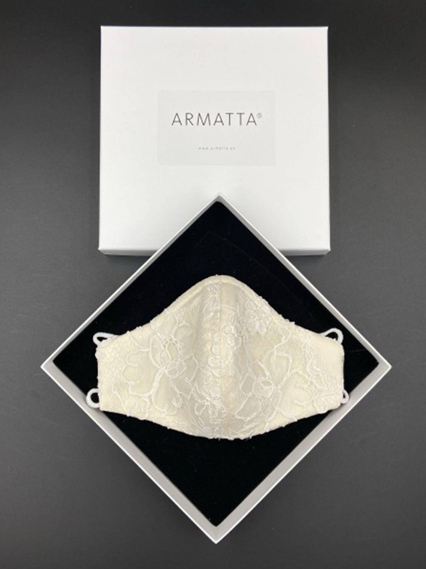 Mascarilla de encaje de Armatta. (Cortesía)