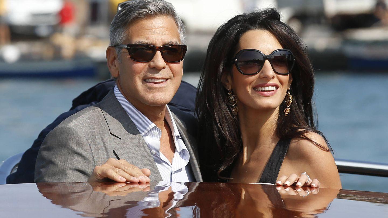 George Clooney y Amal en Venecia. (Gtres)