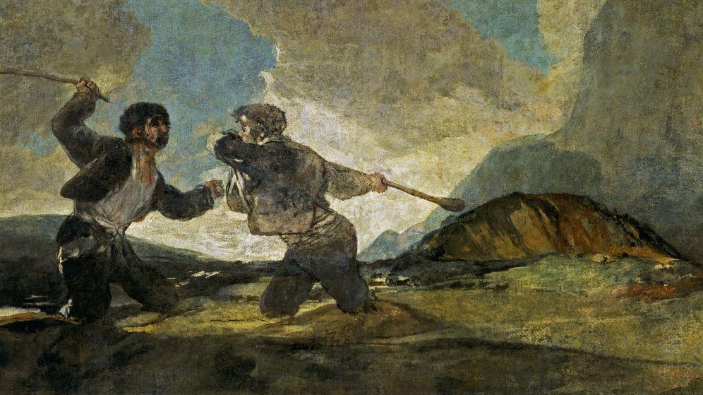 Foto: 'Duelo a garrotazos', de Francisco de Goya.