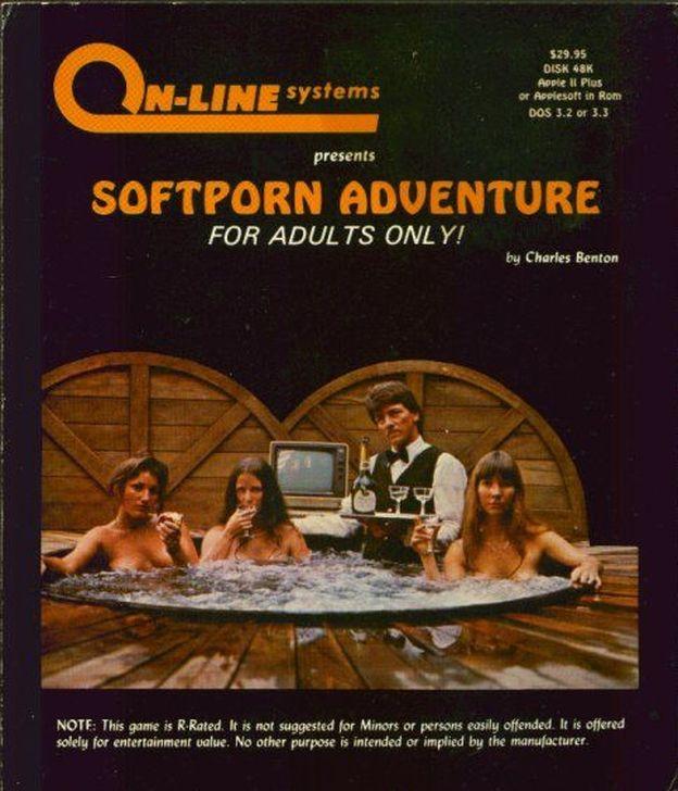 Foto: Carátula del primer videojuego erótico 'Softporn Adventure'