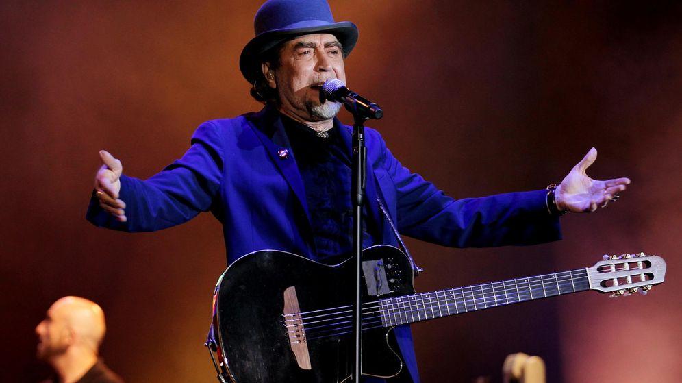 Foto: El cantante español Joaquín Sabina, durante un concierto de su gira latinoamericana '500 noches para una crisis'. (EFE)
