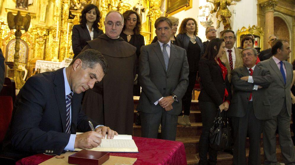 Foto: El presidente del TSJA, Lorenzo del Río, en la Iglesia Conventual del Carmen de San Fernando, Cádiz. (EFE)