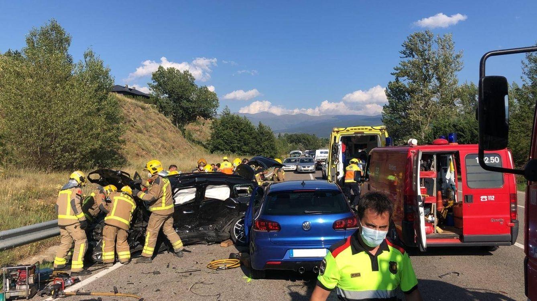 Foto: Un muerto, un herido grave y otro leve en un accidente en la N-260 en Ger (Girona). (EP)