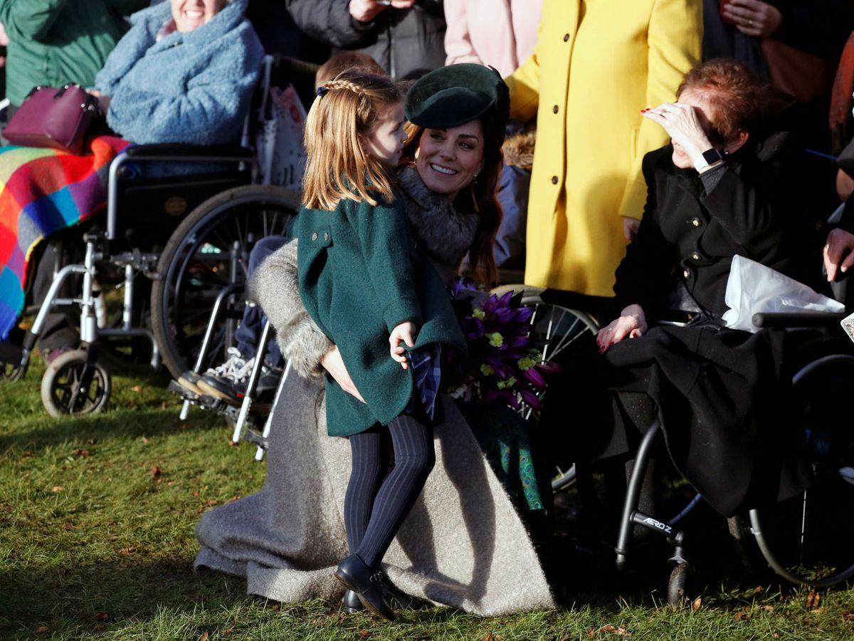 Foto: Kate Middleton y Charlotte, la pasada Navidad. (Reuters)