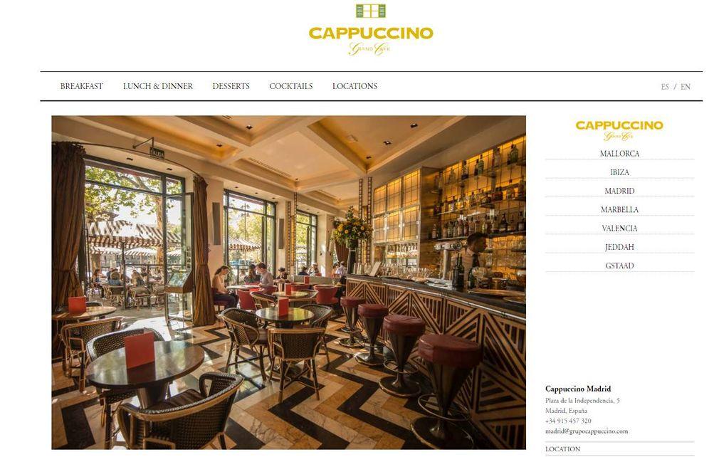 Foto: Imagen de la web de Grand Café Capuccino.