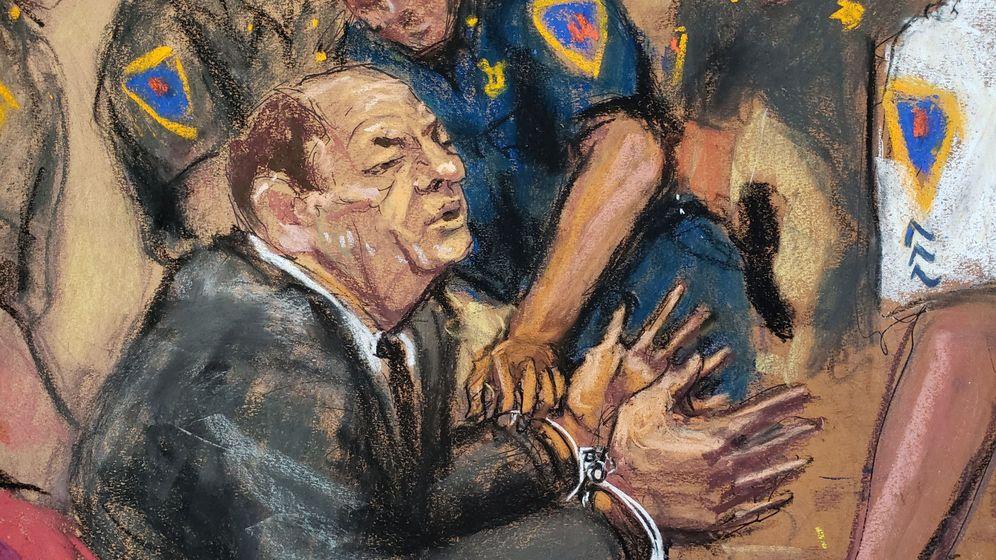 Foto: Ilustración del momento en el que Weinstein es declarado culpable en el juicio. (Reuters)