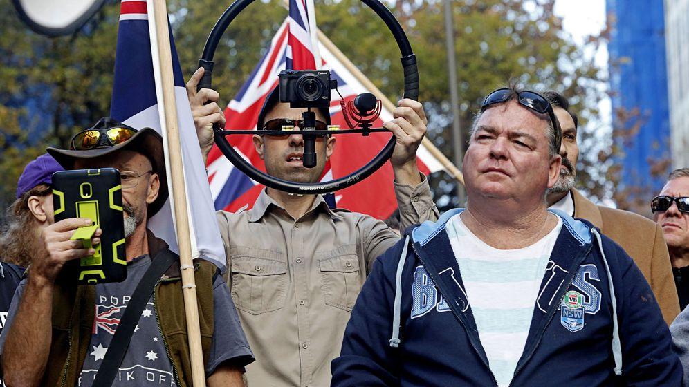 Foto: Reunión ultraderechista en Sidney, Australia, en junio de 2018. (Reuters)