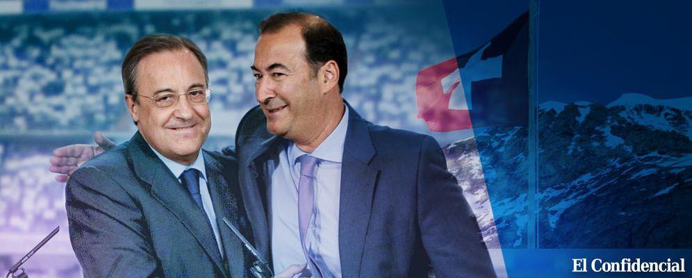 Foto: Fernández de Blas abraza a Florentino Pérez. (EC)
