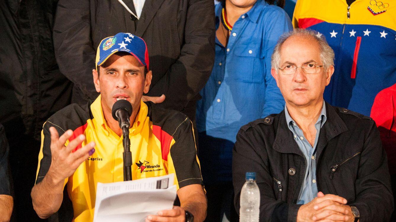 Foto: Enrique Capriles y el alcalde de Caracas, Antonio Ledezma. (EFE)