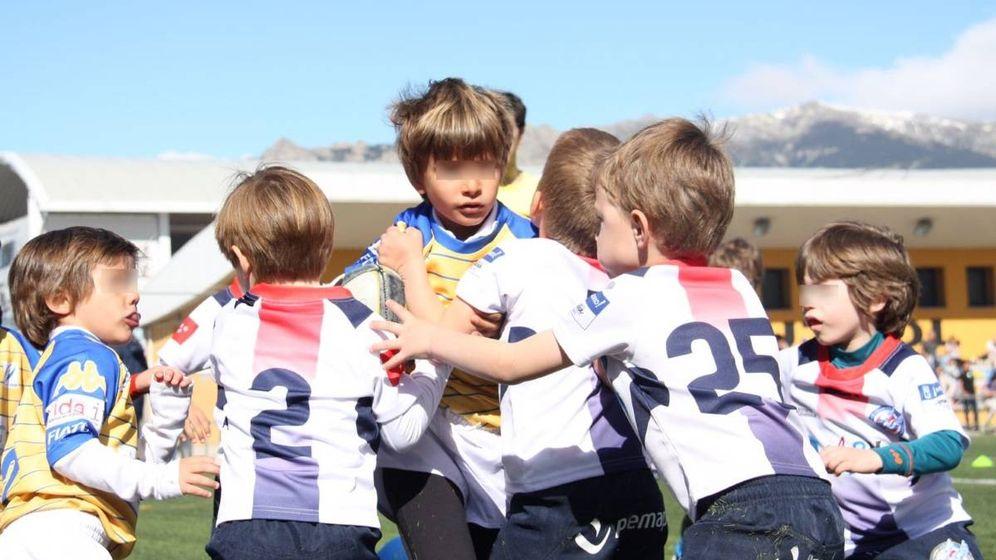 Foto: Imagen de unos niños jugando al rugby en la pasada edición del Torneo Nacional de Escuelas.