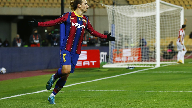 El doblete de Griezmann no fue suficiente para tumbar al Athletic. (Reuters)