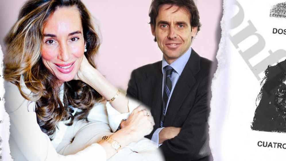 Foto: Elisa Pinto y Javier López Madrid, en un fotomontaje realizado por El Confidencial.