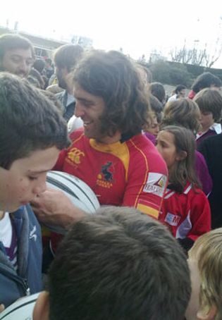 Foto: Carlos Blanco, el australiano que viajó a España para ser gallego y jugar al rugby