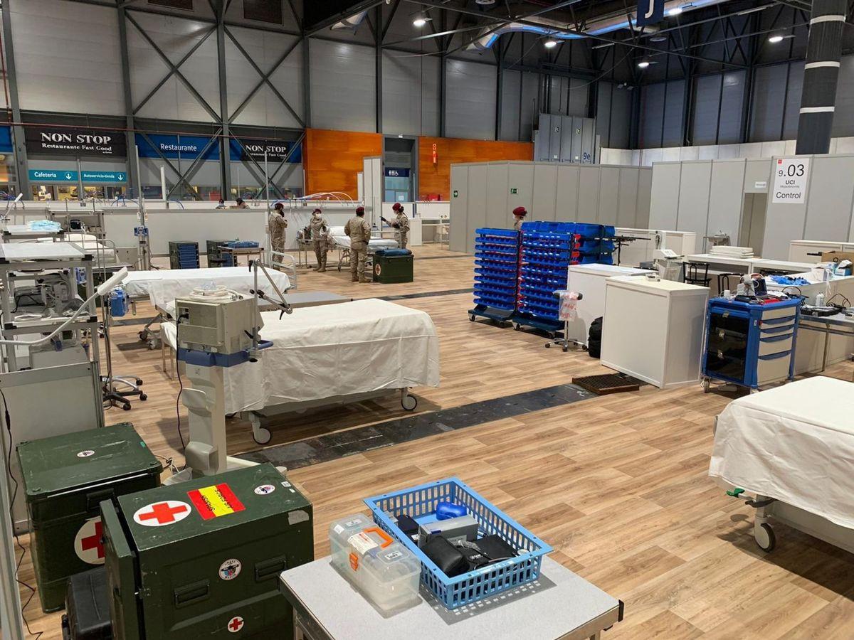 Foto: Unidades médicas del Ejército del Aire en Ifema. (EFE)