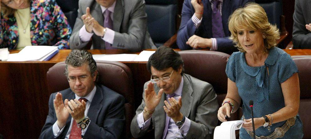 Foto: Granados, González y Aguirre en una foto de archivo. (EFE)