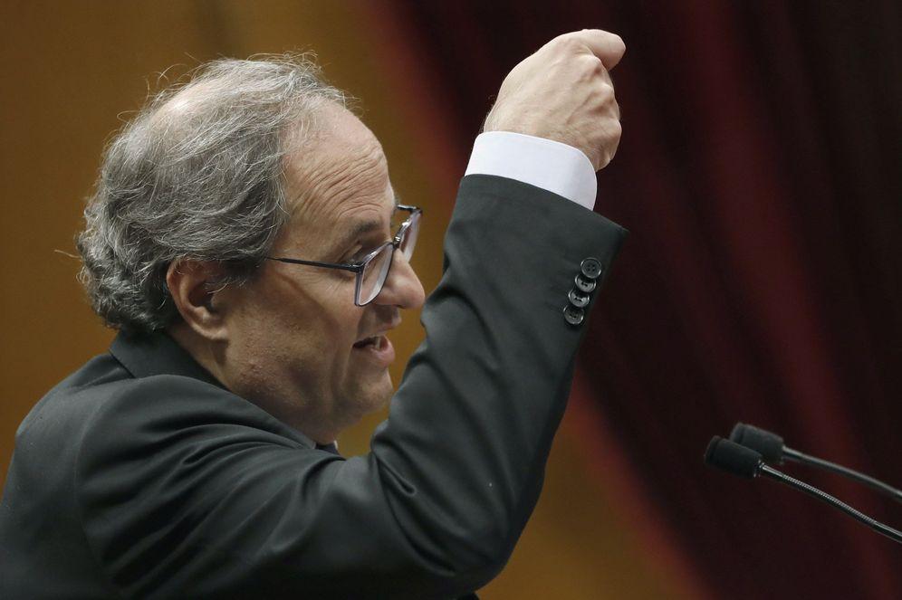 Foto: Torra durante la sesión de contro al Govern celebrada el pasado miércoles. (EFE)