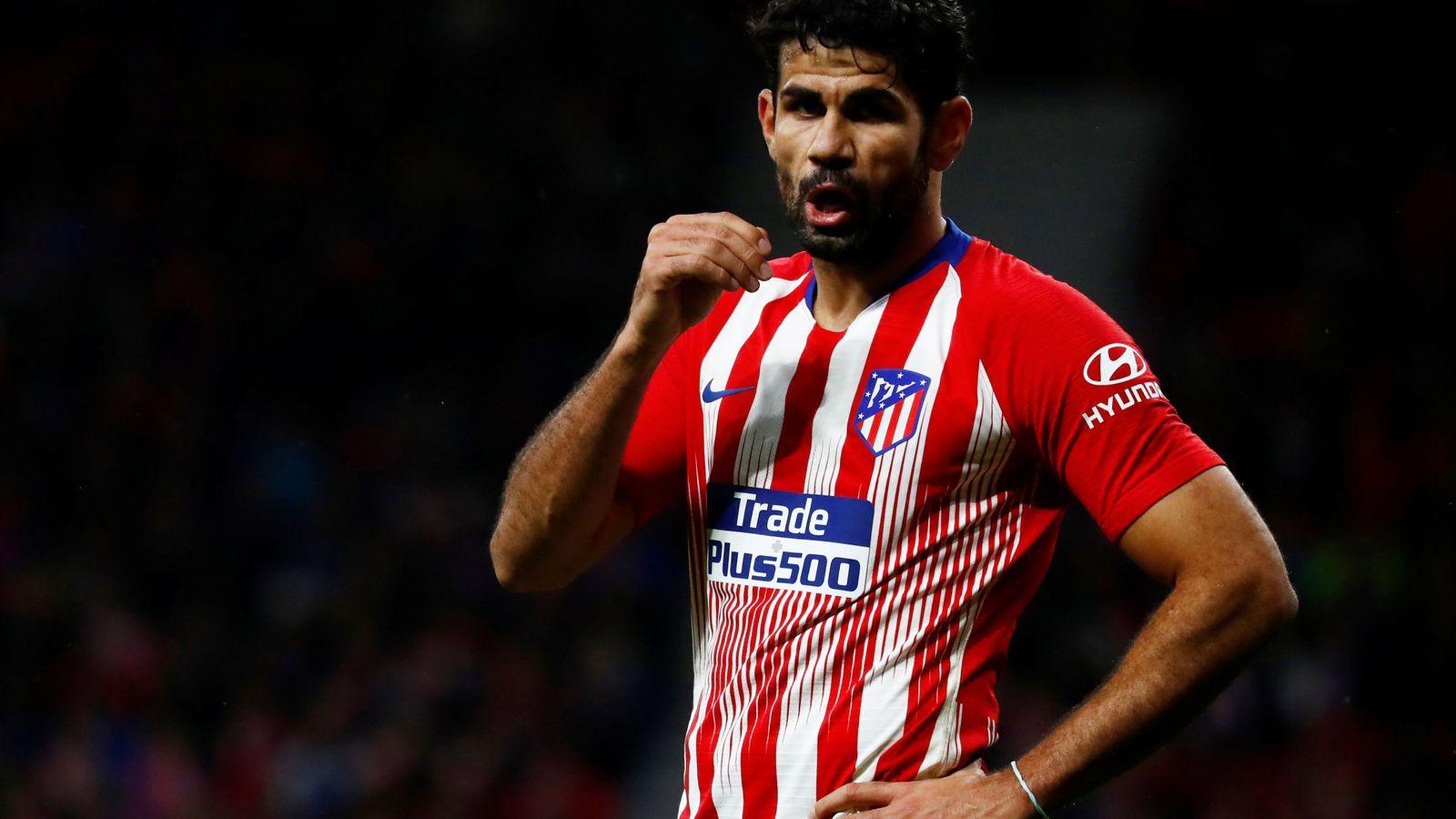 Foto: Diego Costa con la camiseta atlética. (Reuters)