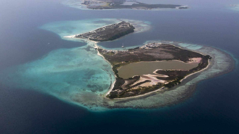 Vista general desde el aire del archipiélago de Los Roques. (Reuters)