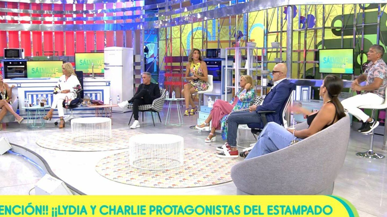 Paz Padilla en el plató de 'Sálvame'. (Mediaset España)