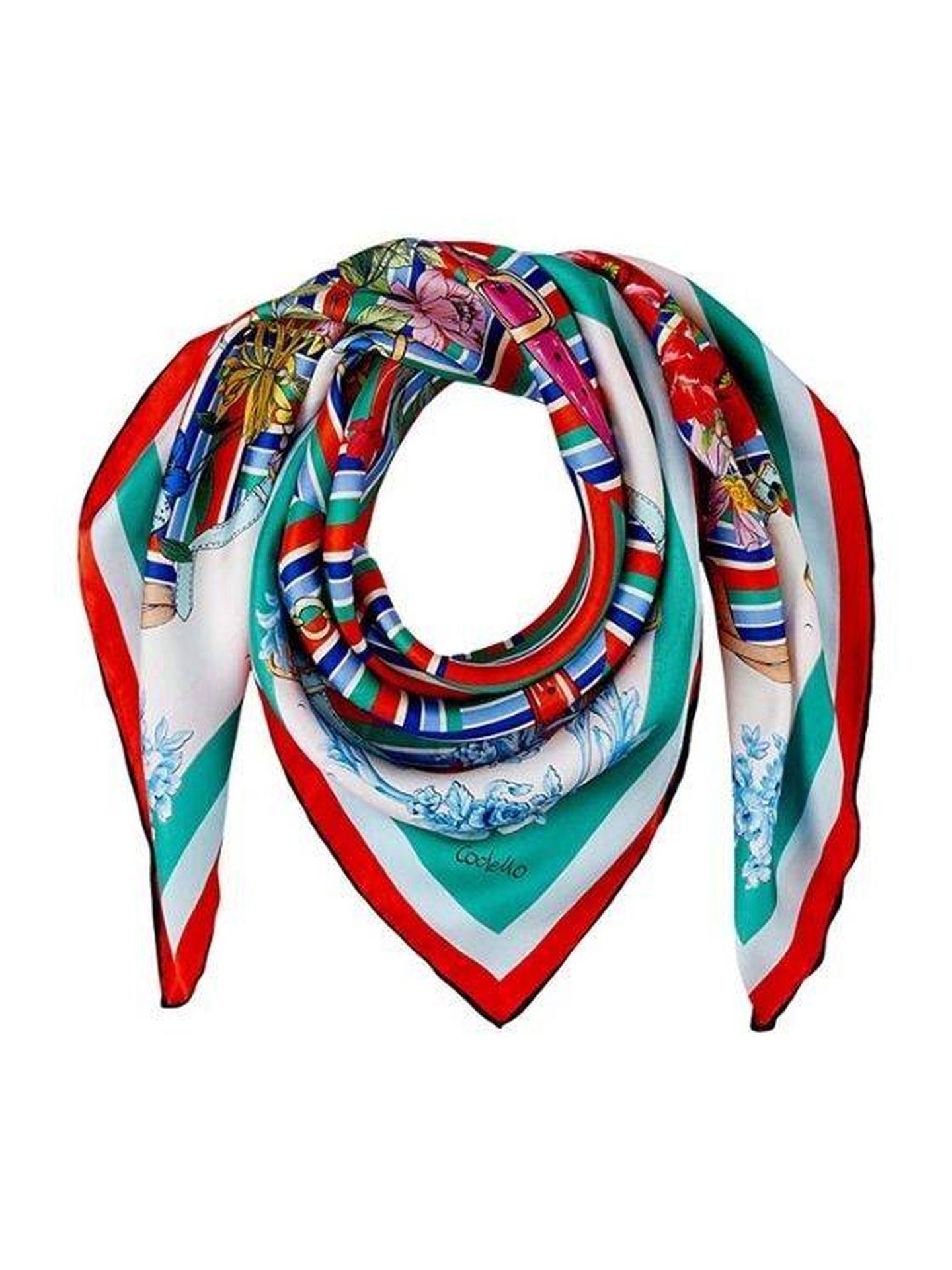 Pañuelo de seda de Codello. (Cortesía)