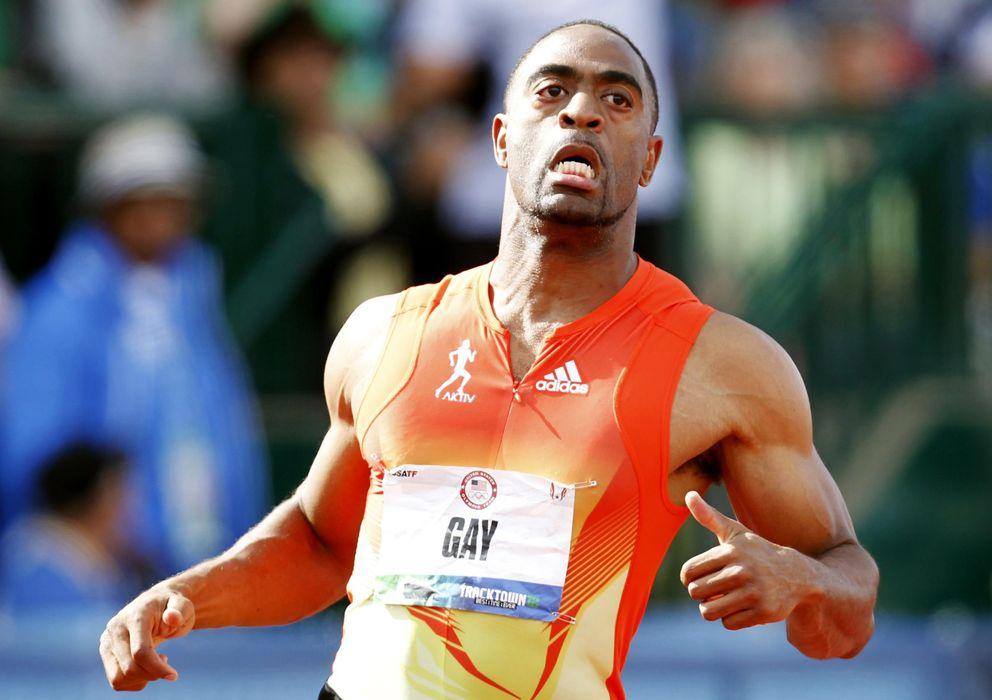 Foto: Tyson Gay compitiendo en Oregon (Reuters).
