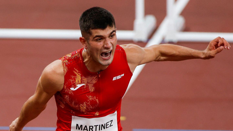 Asier Martínez celebra su carrera. (Reuters)