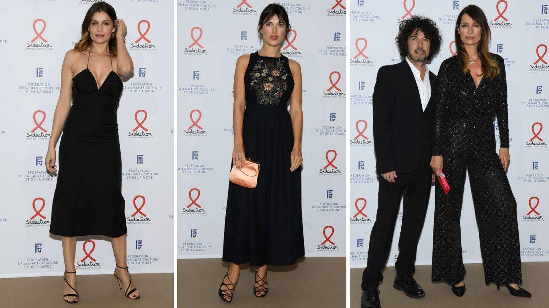 Laetitia Casta, Jeanne Damas, Yarol Poupaud y Caroline de Maigret, el trío francés de mejor vestidas. (Getty)
