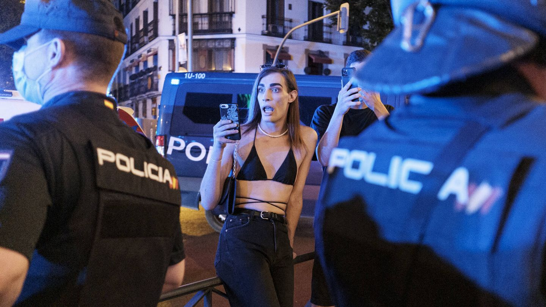 Protesta en Madrid por la muerte de Samuel. (S. B.)