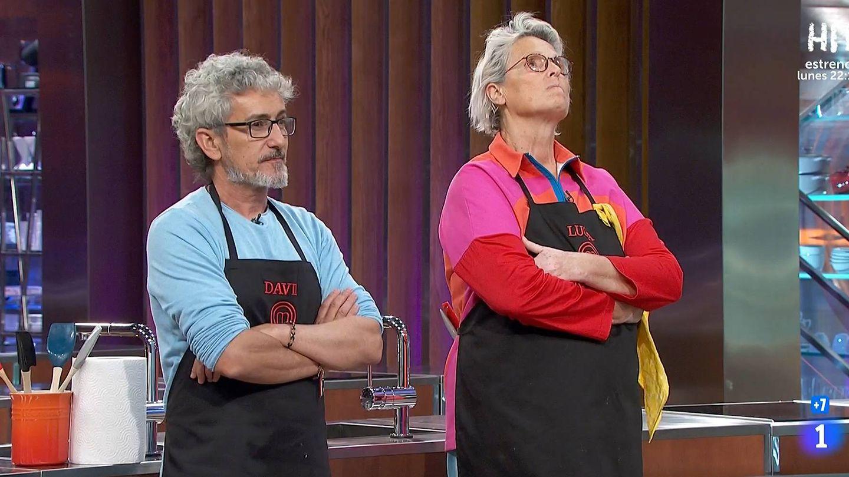 David Fernández y Lucía Dominguín, en 'Masterchef Celebrity 5'. (TVE)