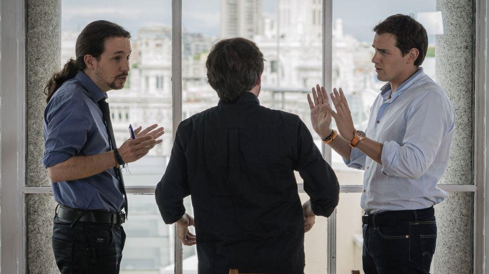 Foto: Rivera e Iglesias, en una imagen del programa del pasado domingo. (EFE)