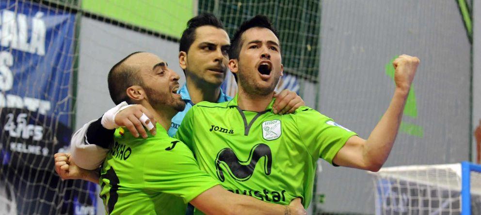 Foto: El Inter Movistar pone el 1-0 en la final contra ElPozo Murcia (Foto: Inter Movistar).