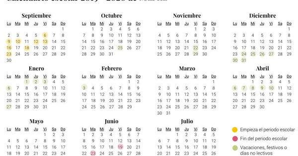 Actividadesfamiliaaboutcom Calendario 2020.Calendario Escolar Murcia 2020
