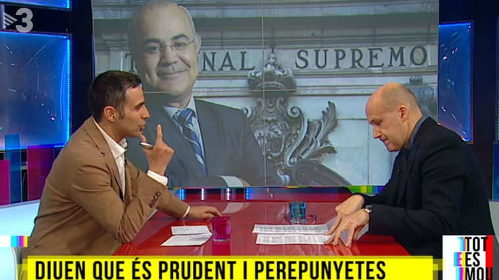 Foto: Fotograma de la emisión del reportaje sobre el juez Pablo Llarena en TV3.
