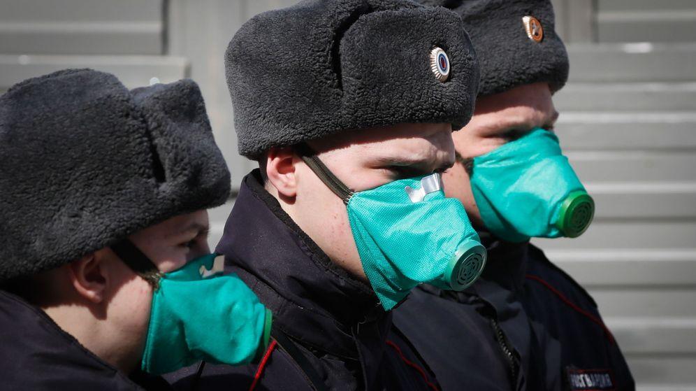 Foto: Oficiales de Policia en Moscú, Rusia. Foto: Efe