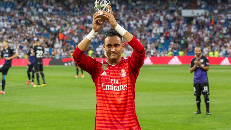 Keylor Navas, mejor portero de la UEFA.(EFE)