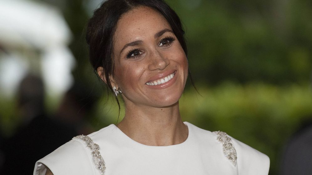 Foto: Meghan Markle en su viaje a Tonga. (Getty)