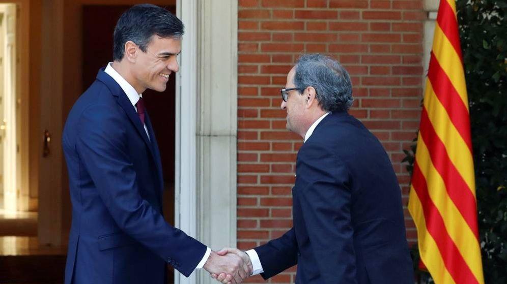 Foto: El presidente del Gobierno Pedro Sánchez y el 'president' de la Generalitat Quim Torra. (EFE)