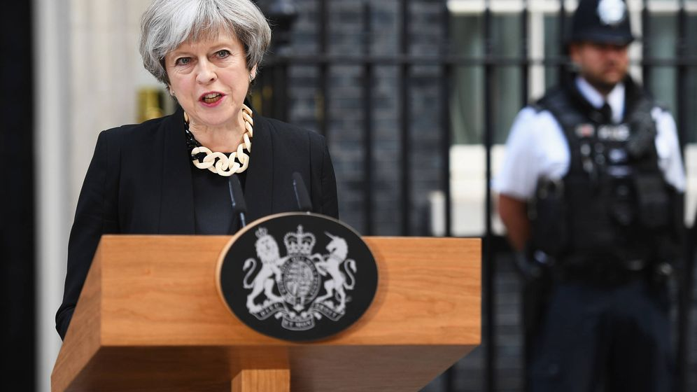 Foto:  Theresa May, en una intervención cuando aún era primera ministra inglesa. (Getty)