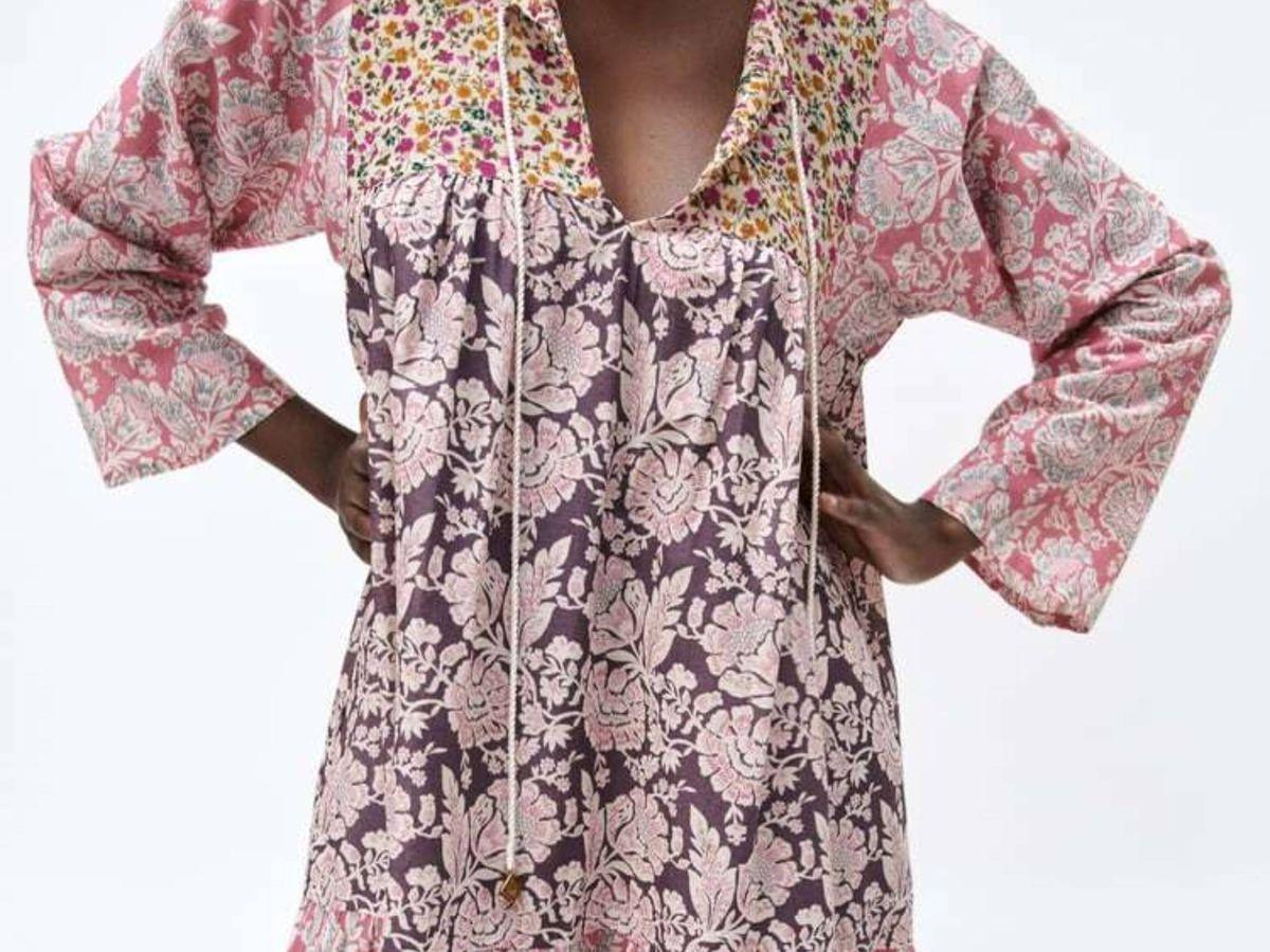 Foto: El vestido patchwork de Zara. (Cortesía)